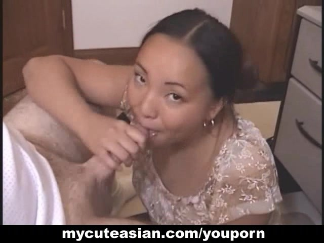 Asian gf gave me my first nut from a blowjob ever mission completed