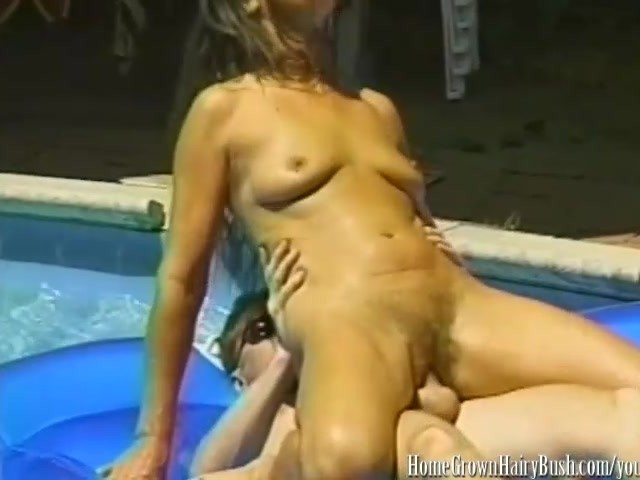 Mature Brunette Fucked In Hairy Pussy In The Pool - Free -2269