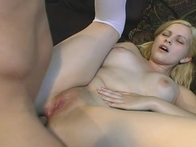 Open crotch panties creampie