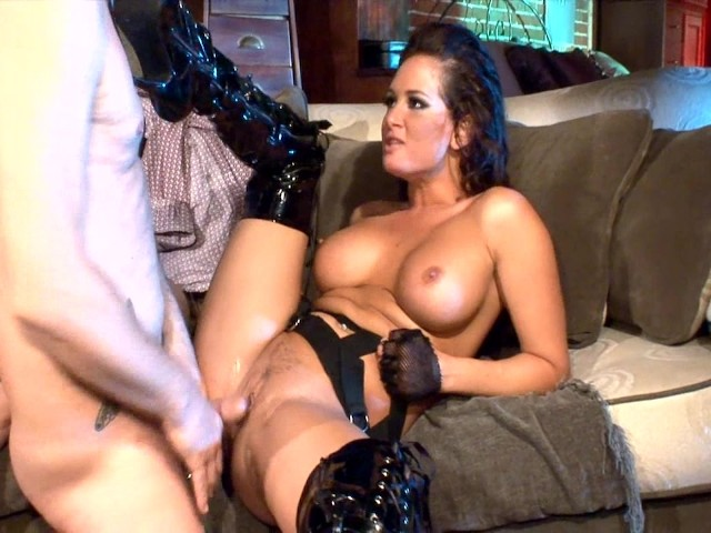 Have Milf sucking cock in thigh high boots