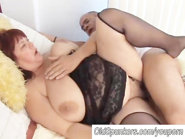 Attractive busty granny striptease 6