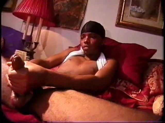 Skinny Black Thug Plays With His Long Dick - Encore Video -9995