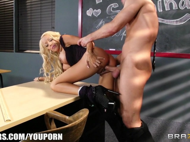 big blonde teacher - Big Tit Blonde Teacher Gets Taught a Lesson in Fucking - Free Porn Videos -  YouPorn
