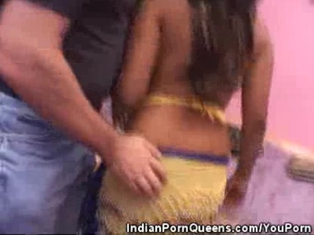 Indian honey stripped and double teamed 9