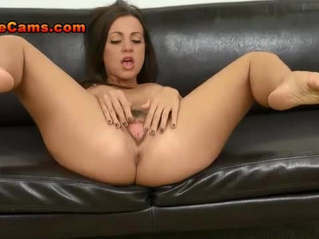 image Cock hungry brunette begs for 2 big fat cocks down her throat even if she