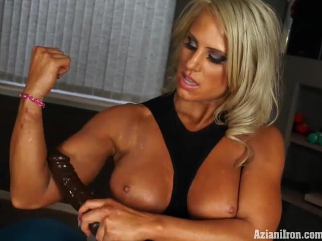 Muscular Blonde Babe 32