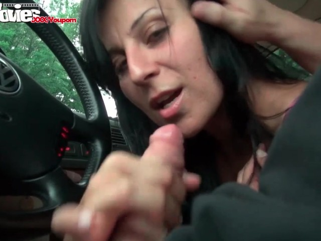 Funmovies German Girl Giving Head In A Car And Swallows -4465