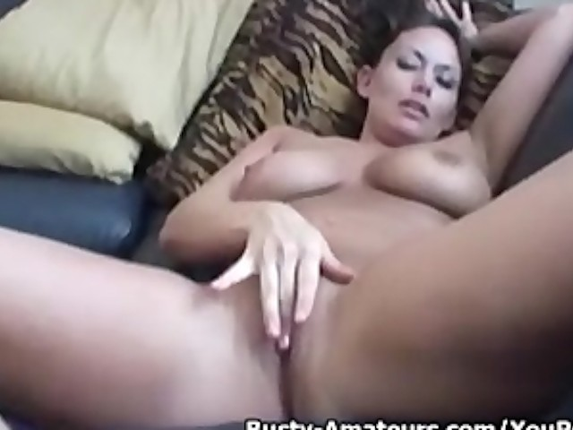 image Busty jacklyn masturbates her pussy after hot interview