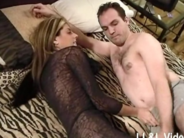 Fucking a pussy in three big cocks