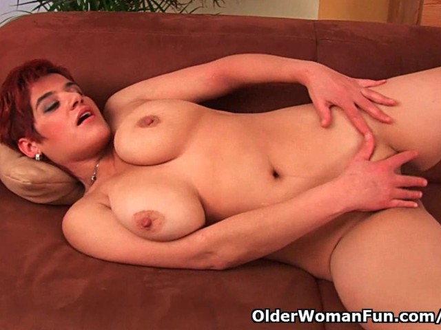 42 year old soccer mom with big tits fucks a dildo 6
