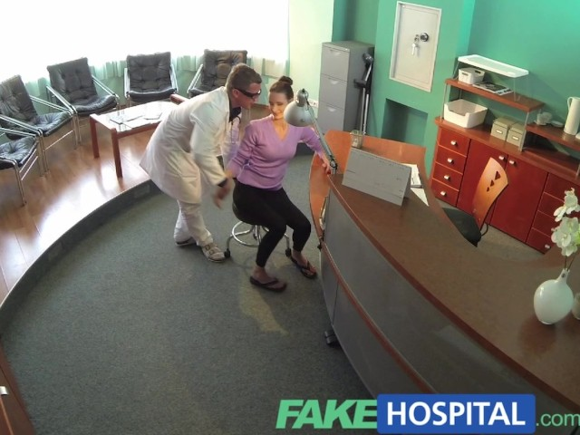 image Fakehospital doctor faces sexy brunette from insurance company