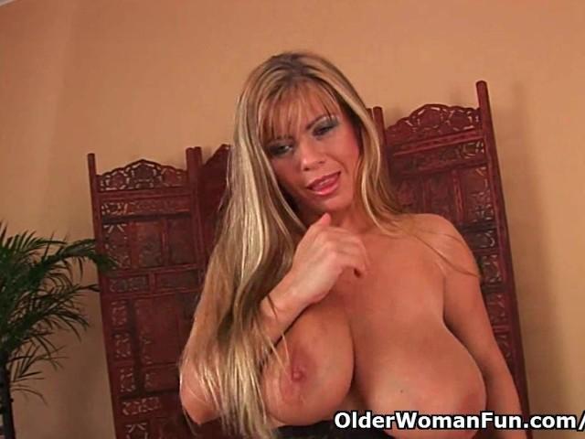 Big boob mature mom