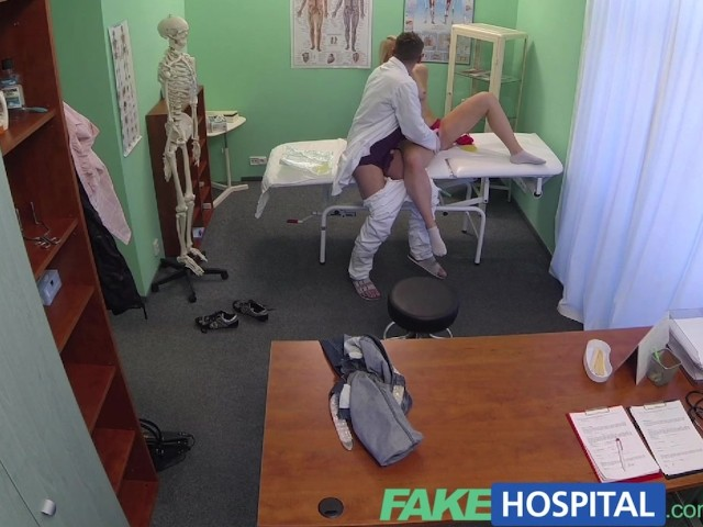 image Fakehospital successful consultation as hot blonde moans