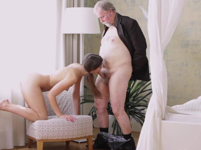 Granny helping a young couple having sex 7