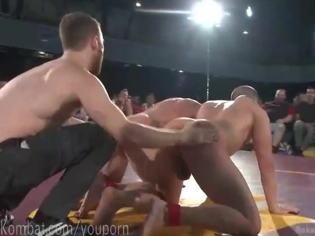 Tag team oil wrestlers go at it 5