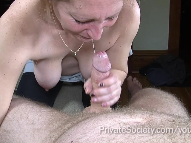 Lisa sucks and wanks my cock until i come - 3 part 6