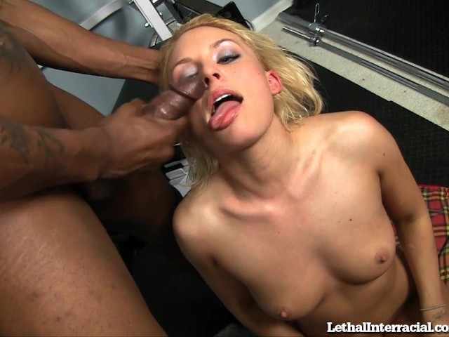 Cute Blonde Filled Up With Black Cock #598947