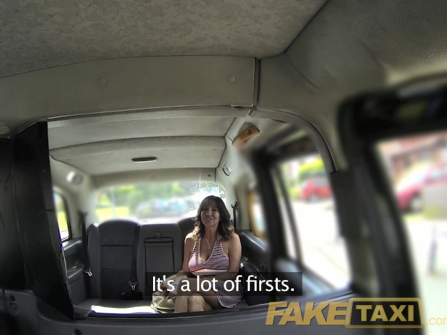 Faketaxi milf with huge juggs tits wanks the driver on backseat 4