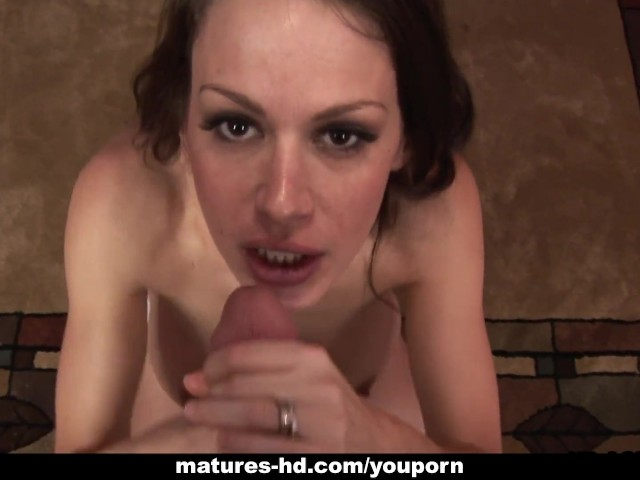 image Bustybrunette mature sticks his dick in her wet vagina