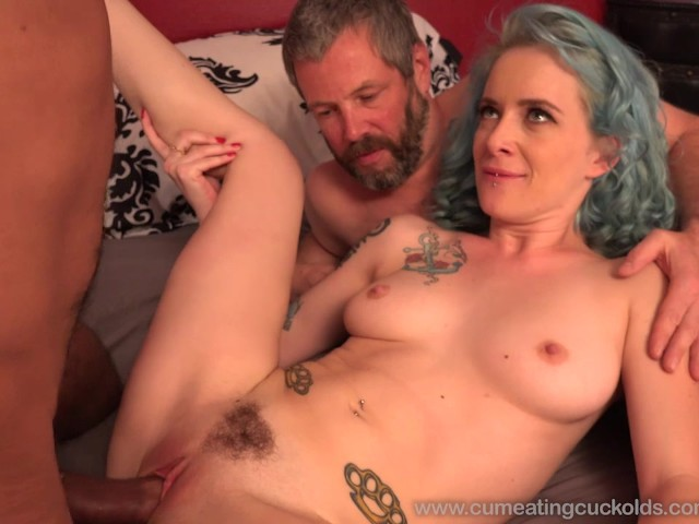 Wife Share A Cock With Husband And He Eats Cum - Video -6024