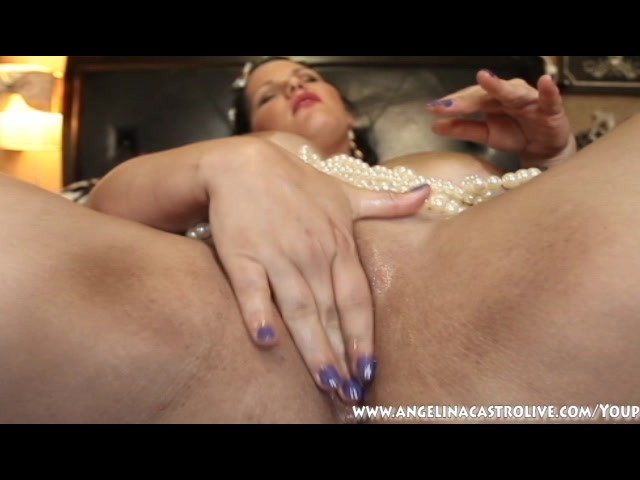 image Big titted angelina casto fucks pussy with pearls