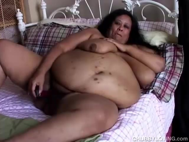 fat woman exercising naked