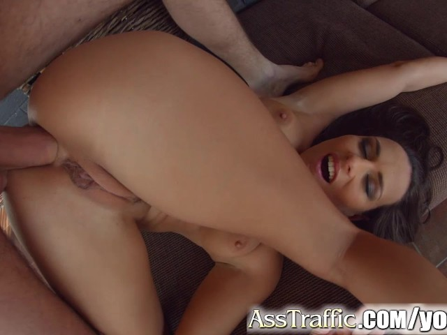 Asstraffic hard ass pounding and double cumshot for this hot babe