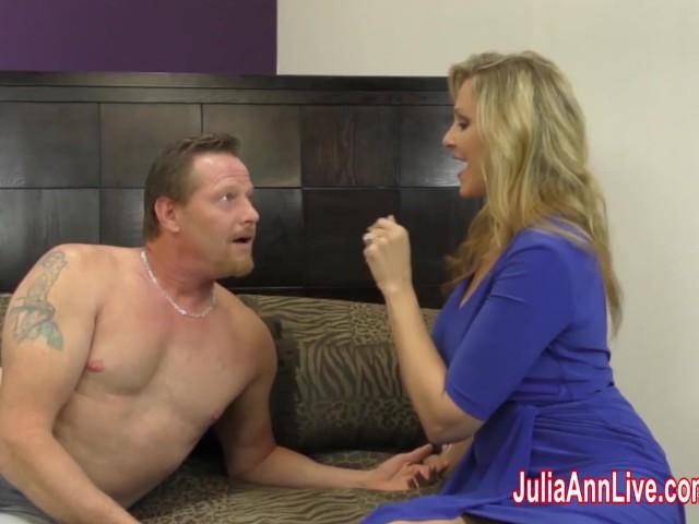 Busty Milf Julia Ann Jacks Him Off With Fake Pussy! #279975