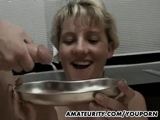 Stripped tied cuckold slave cock sucker