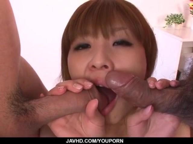 image Rinka aiuchi blows and fucks in dirty threeso