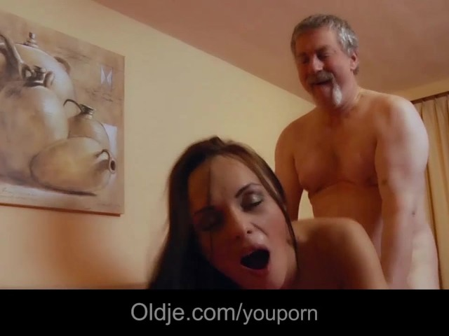 image Old man licking young and granny big tits