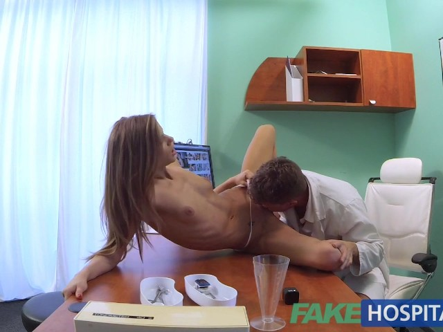 Busty doctor eats lesbian patients pussy