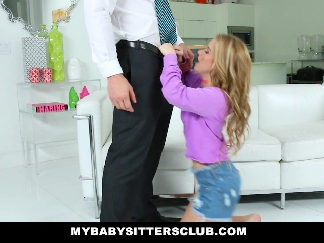 Adorable babysitter lily ford fucks hot boss