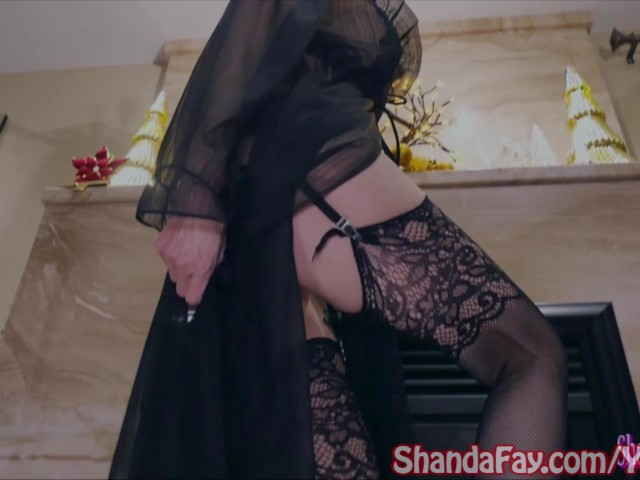 kinky milf shanda fay rides big dick in stockings!