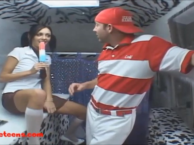 Icecream truck teen cheerleader gets pounded and first taste 10