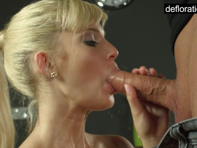 image Blondie is a virgin but enjoys riding a penis