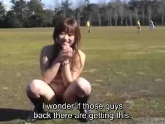 Subtitled japanese pee desperation plastic wrap prank in hd 4
