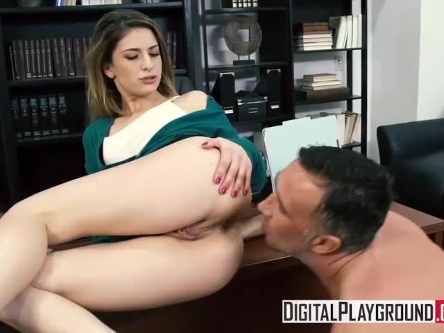 Stuffing The Student - Kristen Scott Deepthroats Her -5057
