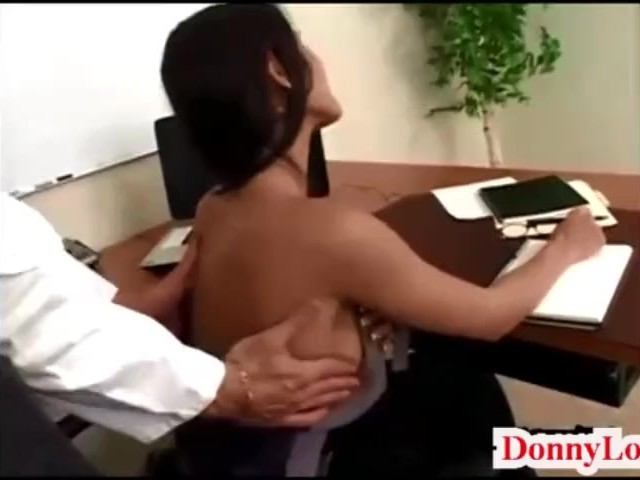 Donny Long Gives Cute Super Hot Huge Tit Secretary Her First Big Cock