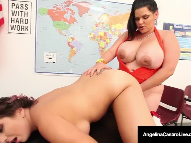 42f bbw angelina castro amp gia love do school girl strapon