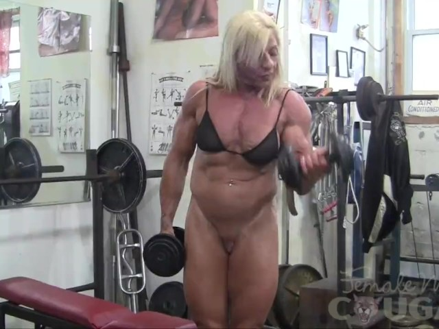 Female bodybuilder lacey works out and masturbates 9