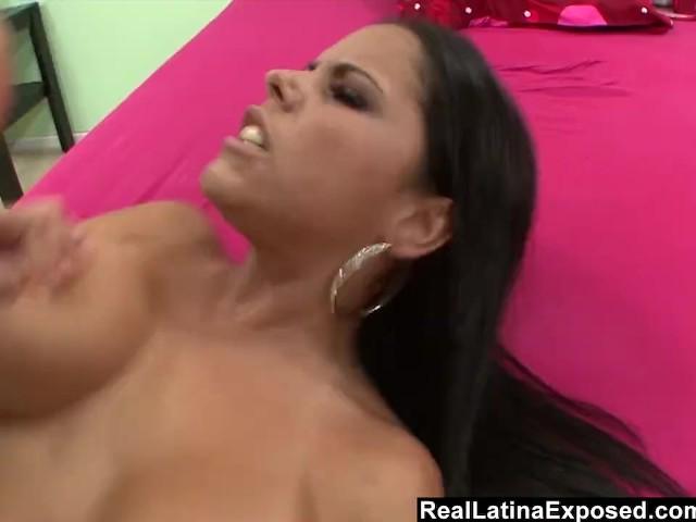 image Reallatinaexposed big boobed latina makes a mtf cum