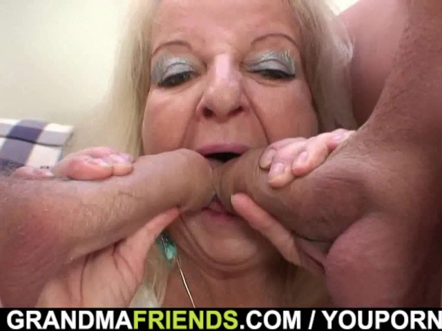 Blonde Granny Swallows Two Cocks Porn Images