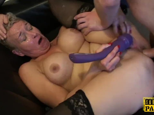 image Mature britt cocksucks dom in front of sissy