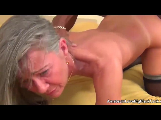 Grey Haired Granny Enjoys Big Black Cock - Free Porn -1528