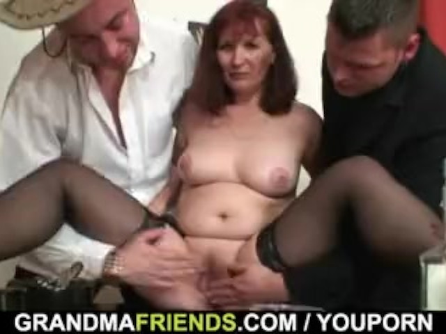 Threesome Sex With Old Woman After Strip Poker Free Porn Videos Youporn