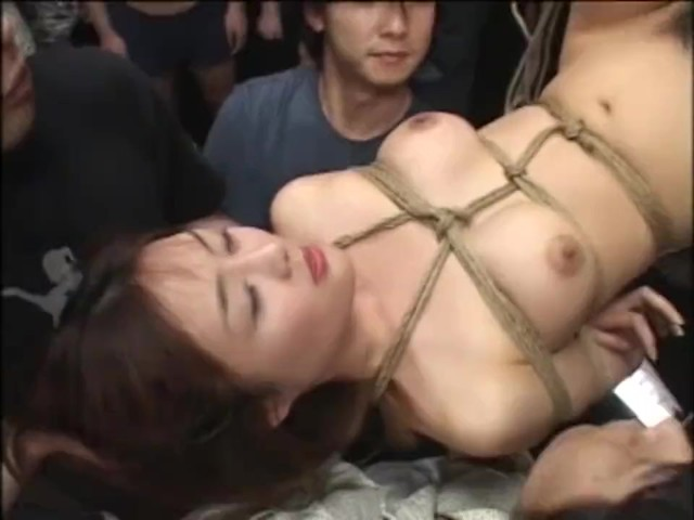 Japanese Teen Tied Upside Down Used As A Cum Target - Free -8345