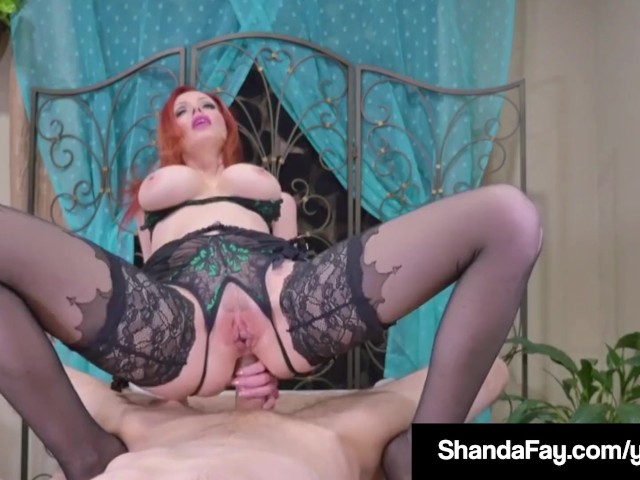 Canadian cougar shanda fay gets a load on her feet amp ass 6