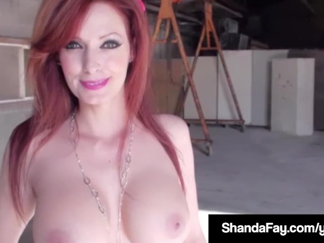 Horny housewife shanda fay gets sprayed in cum after blowjob