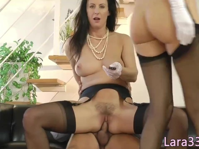 Stockinged UK milf dickriding reversecowgirl #1214217